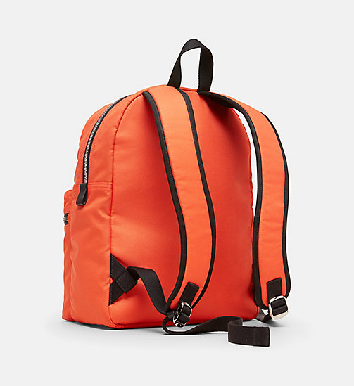 CALVINKLEIN Nylon Backpack - ORANGE - CALVIN KLEIN MEN - detail image 1