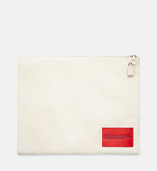 CALVINKLEIN Nylon Pouch - OFF WHITE - CALVIN KLEIN MEN - main image