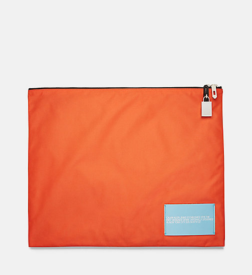CALVINKLEIN Nylon Pouch - ORANGE - CALVIN KLEIN MEN - main image