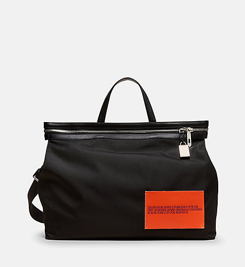 CALVINKLEIN Medium Nylon Tote - BLACK - CALVIN KLEIN MEN - main image