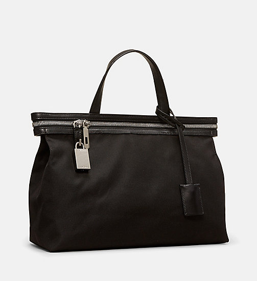 CALVINKLEIN Small Nylon Tote - BLACK - CALVIN KLEIN SHOES & ACCESSORIES - detail image 1