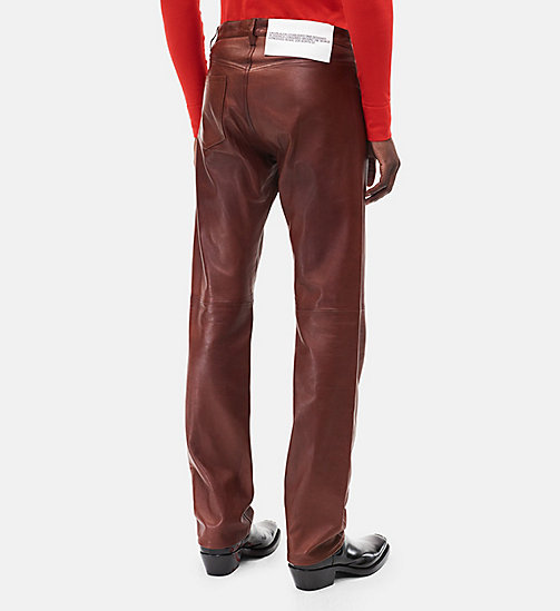 CALVINKLEIN Leather Jeans - COGNAC - CALVIN KLEIN CLOTHES - detail image 1