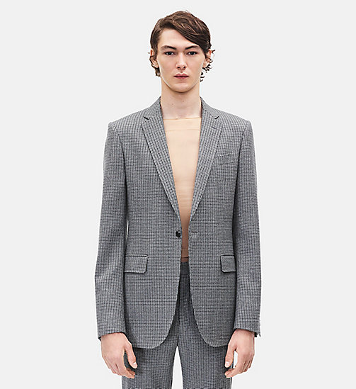 CALVIN KLEIN Slim Fit Single-Breasted Blazer - GREY - CALVIN KLEIN MEN - detail image 1
