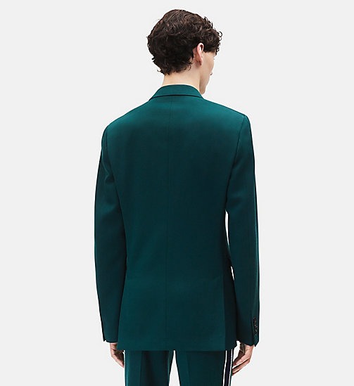 CALVINKLEIN Classic Double-Breasted Blazer - DARK GREEN - CALVIN KLEIN MEN - detail image 1