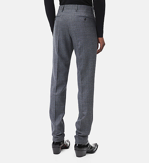 CALVINKLEIN Classic Straight Leg Trousers - DARK GREY BLUE - CALVIN KLEIN MEN - detail image 1