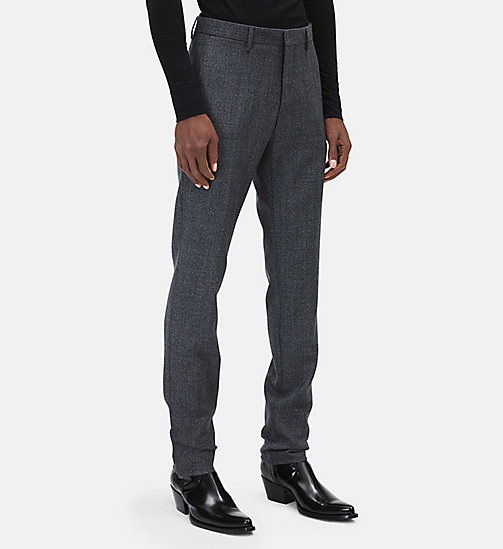 CALVIN KLEIN Classic Straight Leg Trousers - DARK GREY BLUE - CALVIN KLEIN MEN - detail image 1