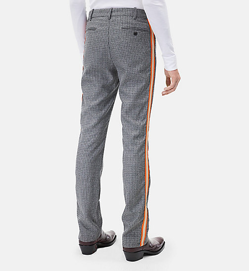 CALVINKLEIN Classic Straight Leg Marching Band Trousers - GREY - CALVIN KLEIN MEN - detail image 1