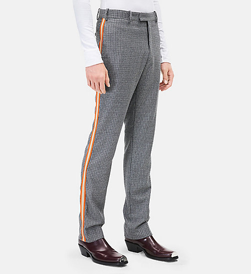 CALVINKLEIN Classic Straight Leg Marching Band Trousers - GREY - CALVIN KLEIN MEN - main image