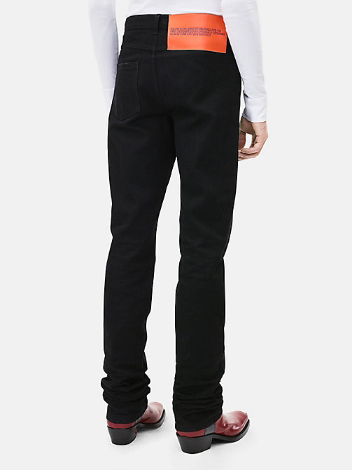 CALVINKLEIN High Rise Straight Leg Jeans - BLACK - CALVIN KLEIN CLOTHES - detail image 1