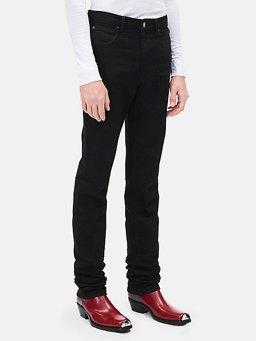 CALVINKLEIN High Rise Straight Leg Jeans - BLACK - CALVIN KLEIN CLOTHES - main image