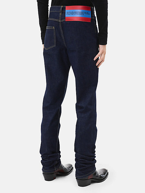 CALVINKLEIN High Rise Straight Leg Jeans - BLUE - CALVIN KLEIN MEN - detail image 1