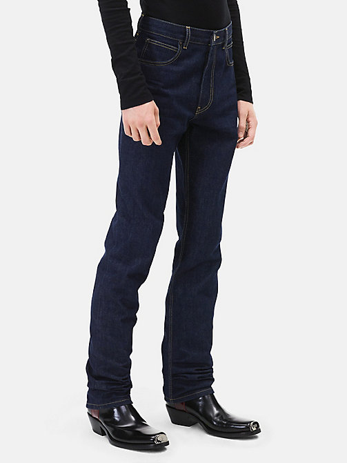 CALVINKLEIN High Rise Straight Leg Jeans - BLUE - CALVIN KLEIN CLOTHES - main image