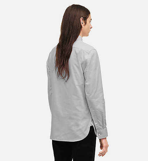 CALVINKLEIN Classic Cotton Oxford Shirt - GREY - CALVIN KLEIN CLOTHES - detail image 1