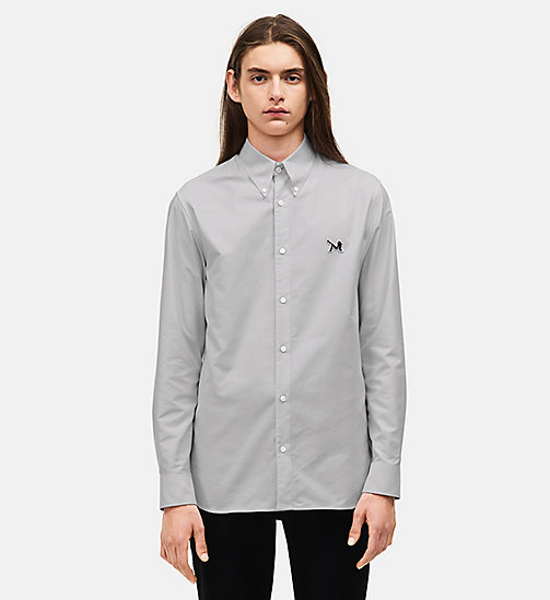 CALVIN KLEIN Classic Cotton Oxford Shirt - GREY - CALVIN KLEIN MEN - main image