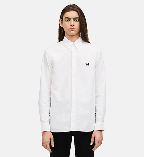 CALVIN KLEIN Classic Cotton Oxford Shirt - OPTIC WHITE - CALVIN KLEIN MEN - detail image 1