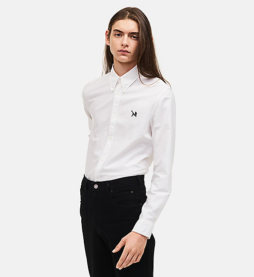 CALVIN KLEIN Classic Cotton Oxford Shirt - OPTIC WHITE - CALVIN KLEIN MEN - main image