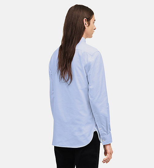 CALVIN KLEIN Classic Cotton Oxford Shirt - LIGHT SKY - CALVIN KLEIN MEN - detail image 1