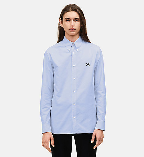 CALVIN KLEIN Classic Cotton Oxford Shirt - LIGHT SKY - CALVIN KLEIN CLOTHES - main image