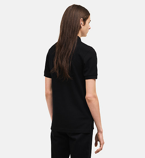 CALVINKLEIN Classic Short Sleeve Polo Shirt - BLACK - CALVIN KLEIN MEN - detail image 1