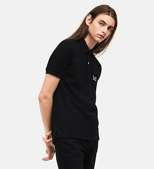 CALVINKLEIN Classic Short Sleeve Polo Shirt - BLACK - CALVIN KLEIN MEN - main image