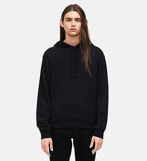 CALVINKLEIN French Terry Hooded Sweatshirt - BLACK - CALVIN KLEIN MEN - main image