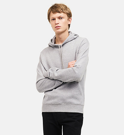 CALVINKLEIN Sweat-shirt à capuche en tissu éponge - HEATHER GREY - CALVIN KLEIN VÊTEMENTS - image principale