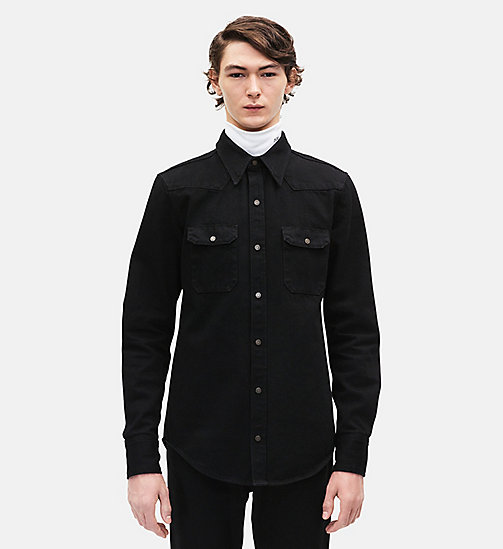 CALVINKLEIN Western Denim Shirt - BLACK - CALVIN KLEIN MEN - main image