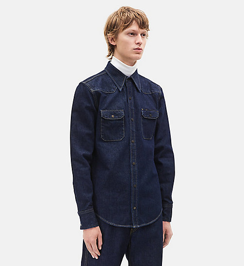 CALVINKLEIN Western Denim Shirt - BLUE - CALVIN KLEIN MEN - main image