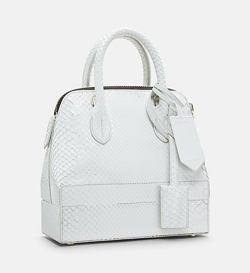 CALVIN KLEIN Mini Leather Shoulder Bag - WHITE - CALVIN KLEIN SALE - detail image 1