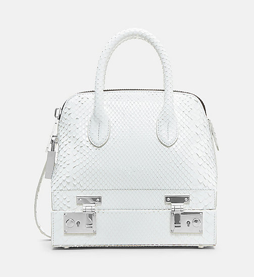CALVIN KLEIN Mini Leather Shoulder Bag - WHITE - CALVIN KLEIN BAGS - main image