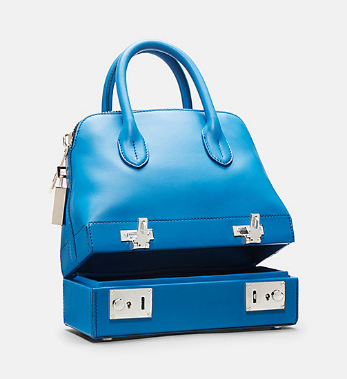 CALVIN KLEIN Mini Leather Shoulder Bag - AZURE - CALVIN KLEIN BAGS - detail image 1