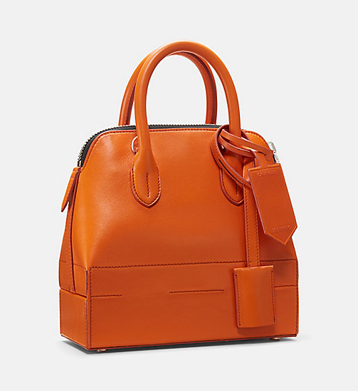 CALVINKLEIN Mini Leather Shoulder Bag - ORANGE - CALVIN KLEIN WOMEN - detail image 1