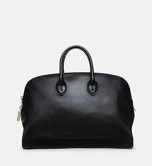 CALVINKLEIN Simple Luxe Leather Tote - BLACK - CALVIN KLEIN SHOES & ACCESORIES - main image