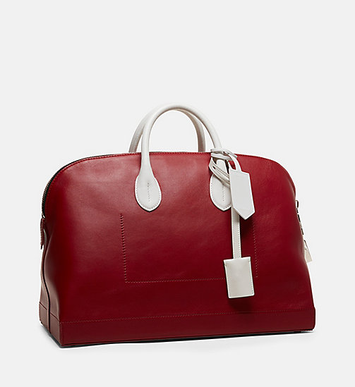 CALVINKLEIN Simple Luxe Leather Tote - RED - CALVIN KLEIN WOMEN - detail image 1