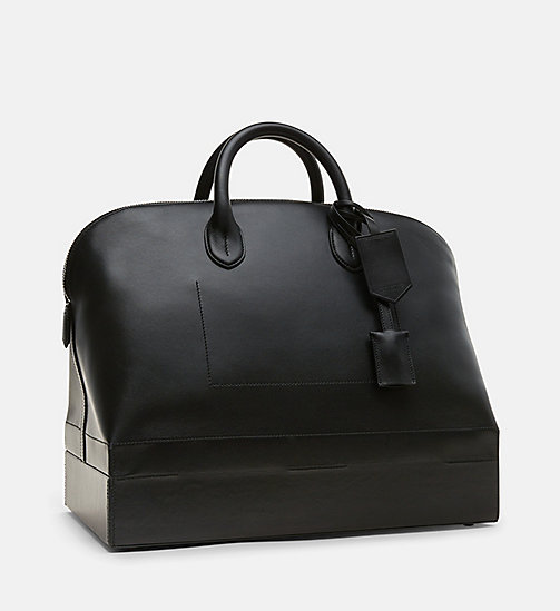 CALVINKLEIN Luxe Leather Tote - BLACK - CALVIN KLEIN WOMEN - detail image 1