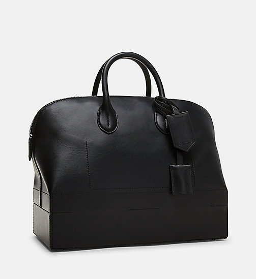 CALVINKLEIN Medium Luxe Leather Tote - BLACK - CALVIN KLEIN SHOES & ACCESSORIES - detail image 1
