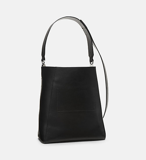 CALVINKLEIN Printed Cow Haircalf Leather Bucket Bag - BLACK - CALVIN KLEIN WOMEN - detail image 1