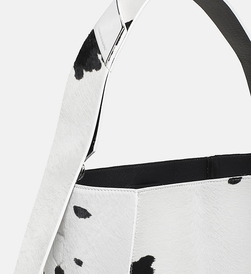 CALVINKLEIN Printed Cow Haircalf Leather Bucket Bag - SAGE - CALVIN KLEIN SHOES & ACCESSORIES - detail image 2