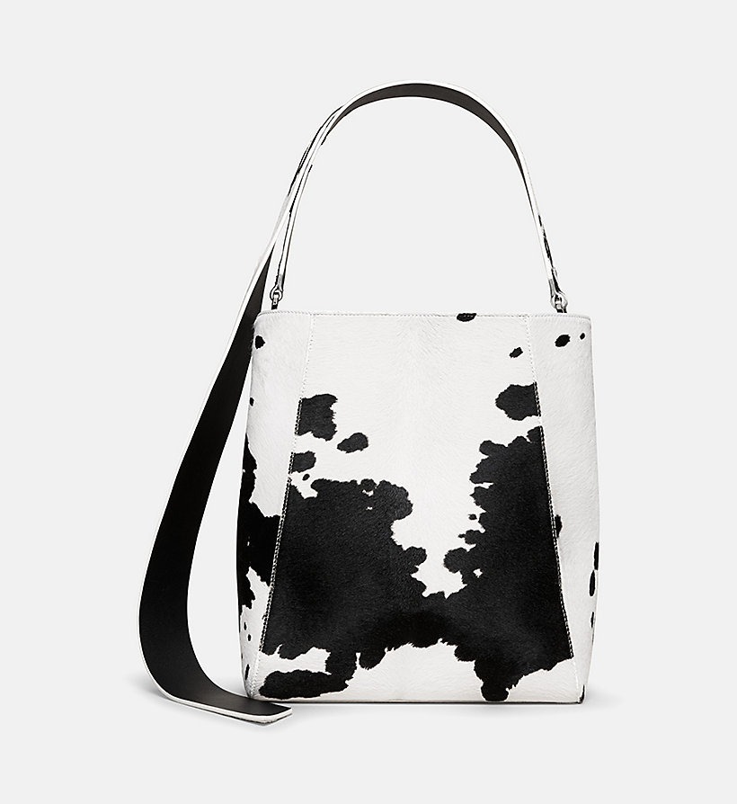 CALVINKLEIN Printed Cow Haircalf Leather Bucket Bag - SAGE - CALVIN KLEIN SHOES & ACCESSORIES - main image