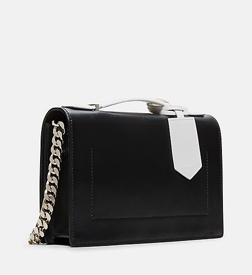CALVINKLEIN Leather Chain Shoulder Bag - BLACK - CALVIN KLEIN WOMEN - detail image 1