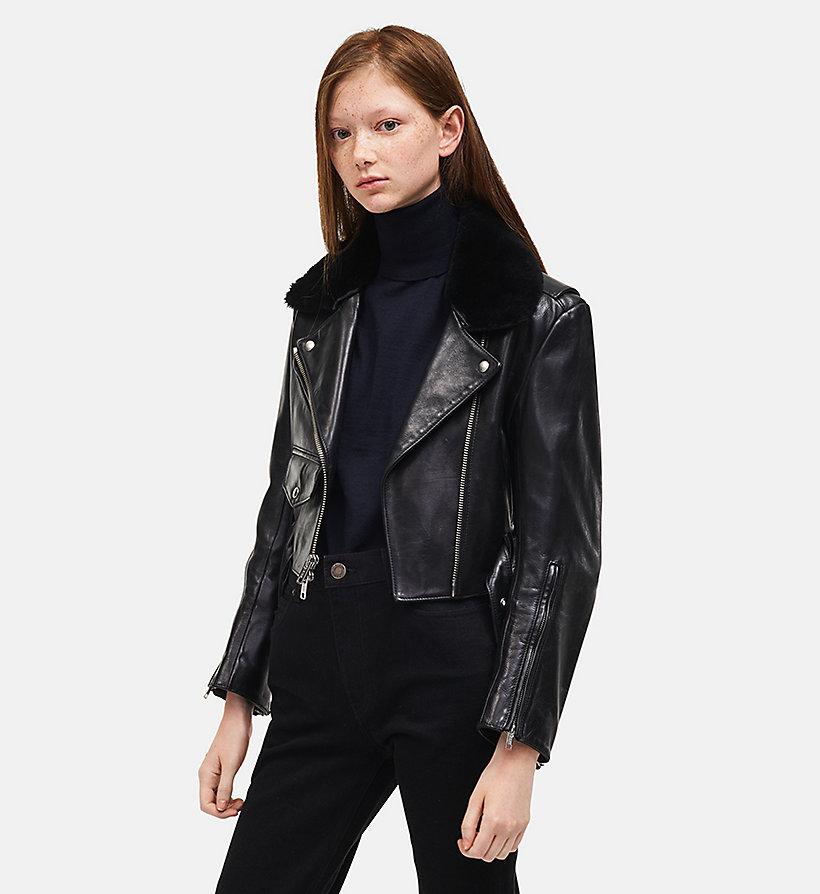 Blouson biker en cuir Calvin Klein®   CO74WLJA01001 7ac014d85d36
