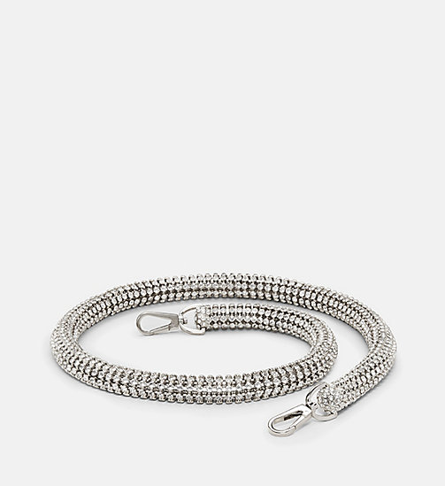 CALVINKLEIN Crystal Shoulder Strap - NICKEL - CALVIN KLEIN SHOES & ACCESSORIES - main image