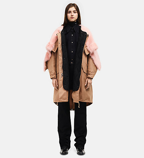 CALVINKLEIN Oversized Quilt Lined Parka - HAVANE - CALVIN KLEIN CLOTHES - main image