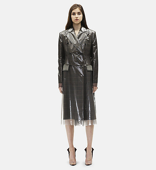 CALVINKLEIN Double Breasted Wall Street Overcoat - GREY - CALVIN KLEIN 205W39NYC - main image