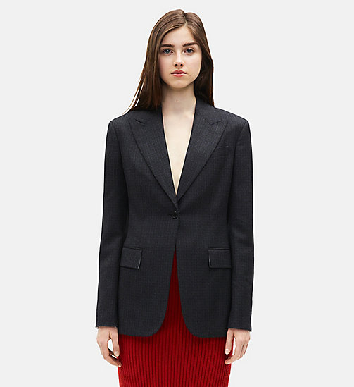 CALVINKLEIN Single Breasted Wall Street Blazer - NAVY BLUE - CALVIN KLEIN 205W39NYC - main image