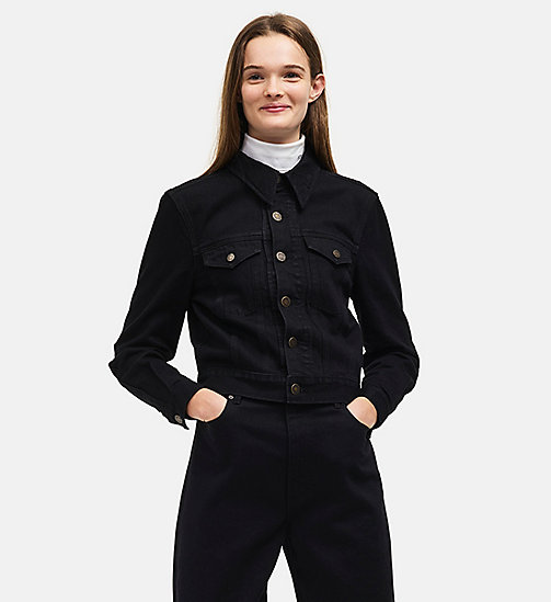 CALVIN KLEIN Denim Trucker Jacket - BLACK - CALVIN KLEIN WOMEN - main image