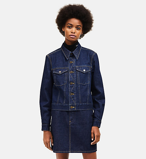 CALVINKLEIN Denim Trucker Jacket - BLUE - CALVIN KLEIN WOMEN - main image