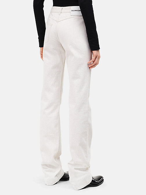 CALVINKLEIN High-Rise Straight Leg Jeans - WHITE - CALVIN KLEIN CLOTHES - main image 1