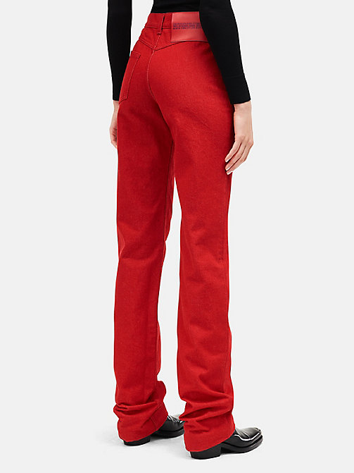 CALVINKLEIN High Rise Straight Leg Jeans - RED - CALVIN KLEIN WOMEN - detail image 1