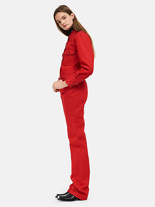 CALVINKLEIN High-Rise Straight Leg Jeans - RED - CALVIN KLEIN CLOTHES - main image